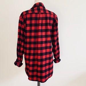 Jachs Tops - Buffalo Plaid Oversized Boyfriend Flannel Shirt
